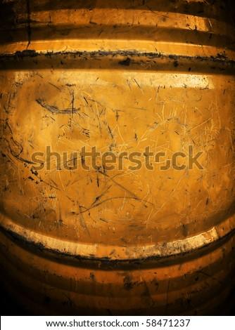 grunge oil drum - stock photo