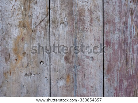 Grunge old painted wooden panels. - stock photo
