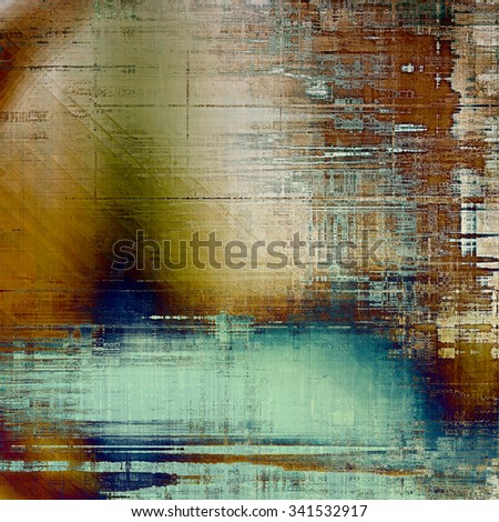 Grunge old texture as abstract background. With different color patterns: yellow (beige); brown; blue - stock photo