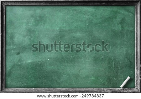 Grunge old wood board. Blackboard Eraser Food Menu List Calendar Classroom Training Remind Drawing Preaching Idea White Chalk Notice Mockup Go Green Spring Plan Border Banner Slate Brown Lunch concept - stock photo