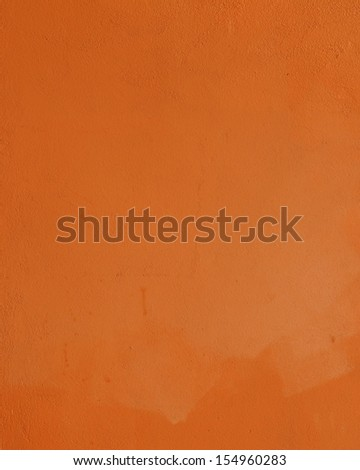 Grunge orange wall  background - stock photo