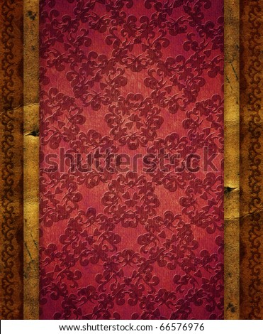 Grunge paper like a vintage gift packing texture - stock photo