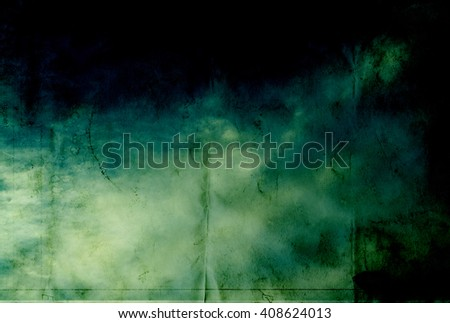 Grunge paper texture - green watercolor background - stock photo