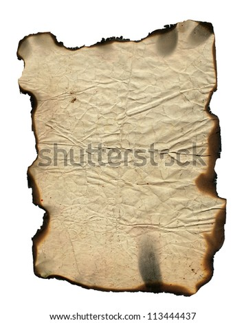 Grunge paper with charred edges - background - stock photo