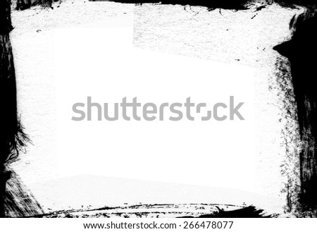 Grunge photo frame - abstract texture. Design template - stock photo