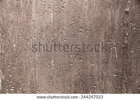 Grunge plaster cement or concrete wall texture brown color - stock photo
