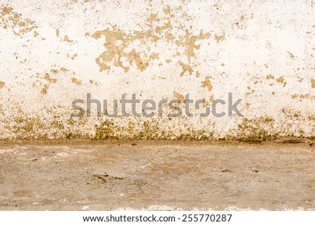 Grunge plaster cement or concrete wall texture white gray color - stock photo