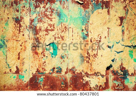 grunge posters - stock photo