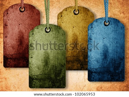 grunge price tag background, sale conceptual image. - stock photo