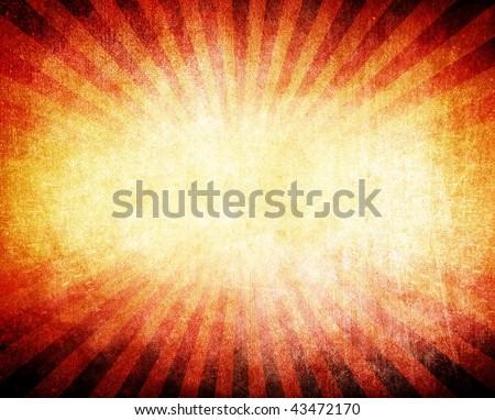 grunge ray pattern background - stock photo
