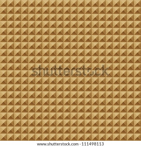 Grunge recycled folded paper craft background - stock photo