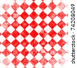 grunge red checkered, abstract  background - stock photo