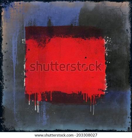 Grunge red dripping background. Design element. - stock photo