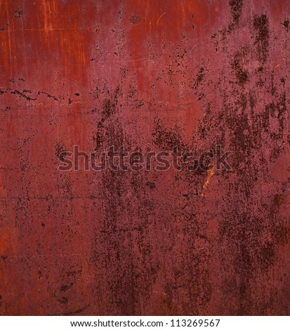 grunge red texture - metal background. - stock photo