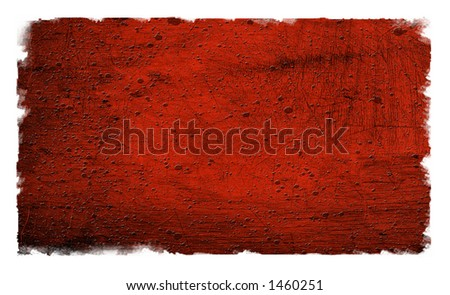 Grunge Red Textured Background on white - stock photo