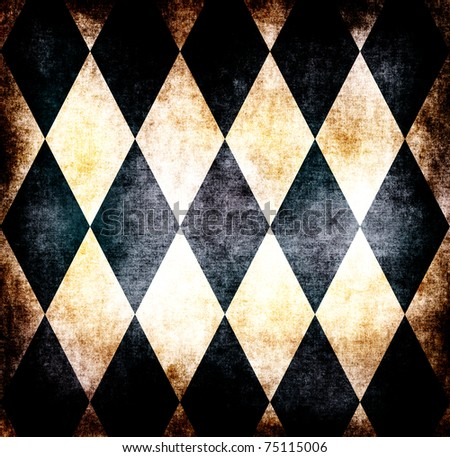 Grunge retro wallpaper - stock photo