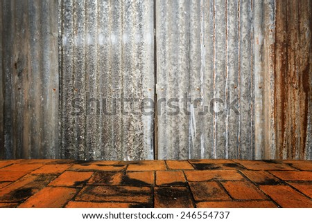 Grunge room interior.  - stock photo