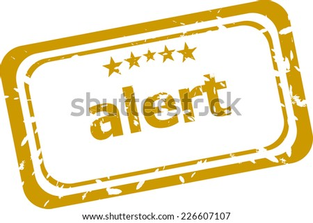 Grunge rubber stamp with word alert inside - stock photo