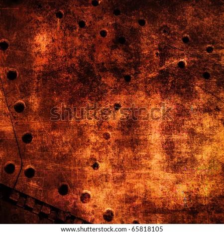 Grunge rusty metal surface - stock photo