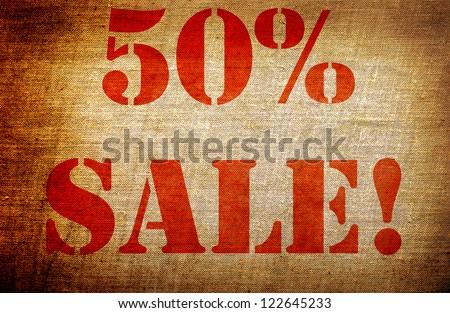 "Grunge "" 50% sale "" - stock photo"
