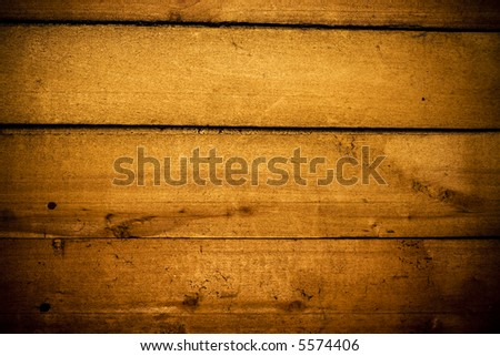 Grunge saturated wooden planks with vignette effect - stock photo