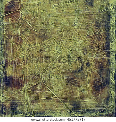 Grunge scratched background, abstract vintage style texture with different color patterns: yellow (beige); brown; gray; black; green - stock photo