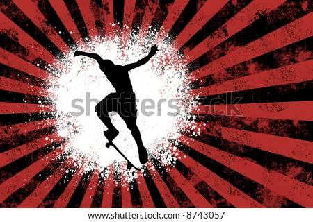Grunge - Skater - stock photo