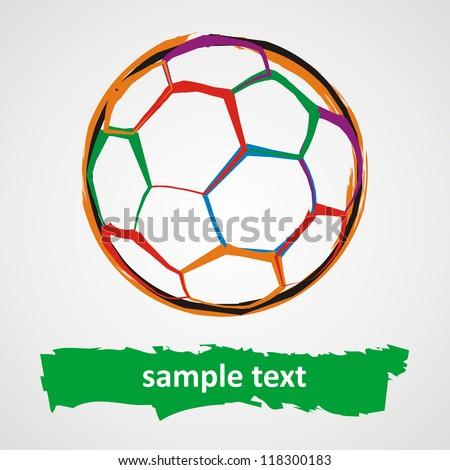 Grunge soccer ball - stock photo