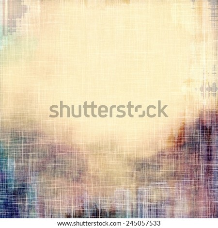 Grunge stained texture, distressed background with space for text or image. With different color patterns: purple (violet); yellow (beige); brown; blue - stock photo