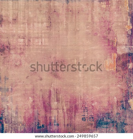 Grunge stained texture, distressed background with space for text or image. With different color patterns: yellow (beige); gray; purple (violet); pink - stock photo