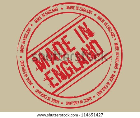 Grunge stamp made in England - stock photo