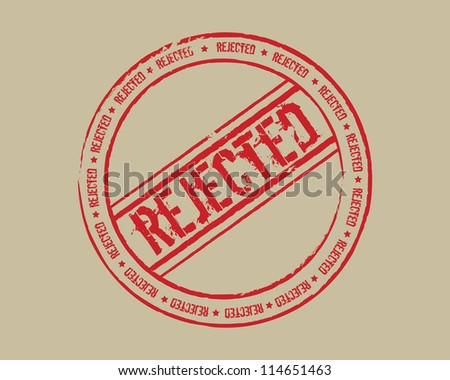 Grunge stamp rejected - stock photo
