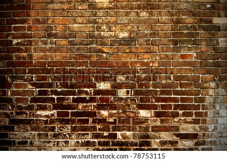 Grunge stile of brick wall - stock photo