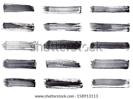 Grunge stripes. Set 15 in 1 - stock photo