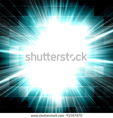grunge style colorful abstract background (ideal for techno concept works) - stock photo