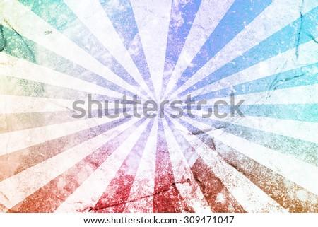 Grunge Sun Sunburst background, vintage sunburst - stock photo
