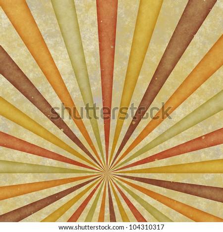grunge sunburst background - stock photo