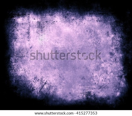 Grunge Texture Background With Frame, abstract scratched background with faded central area for your text or picture - stock photo