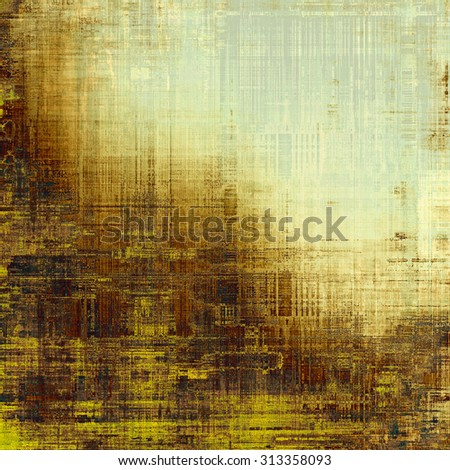 Grunge texture, distressed background. With different color patterns: yellow (beige); brown; gray; black - stock photo