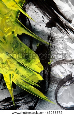Grunge texture expressive brush strokes - stock photo