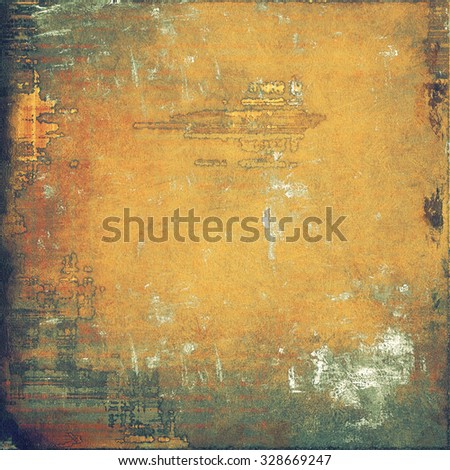 Grunge texture, may be used as background. With different color patterns: yellow (beige); brown; gray; green - stock photo