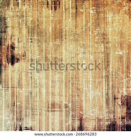 Grunge texture, may be used as retro-style background. With different color patterns: brown; gray; yellow (beige); black - stock photo