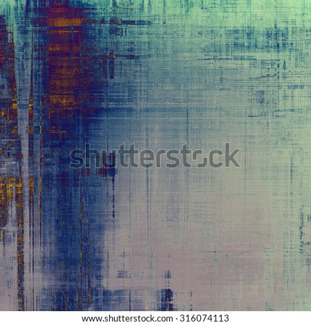 Grunge texture, may be used as retro-style background. With different color patterns: brown; gray; blue; green - stock photo