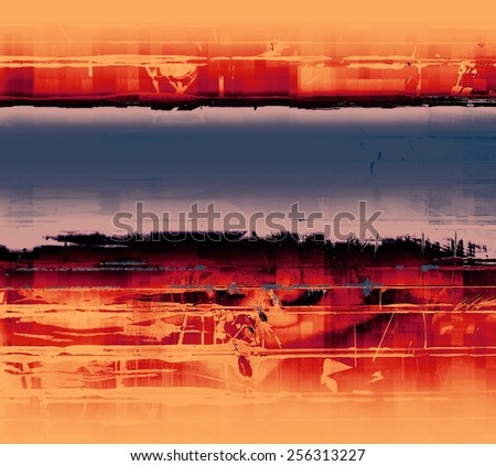 Grunge texture, may be used as retro-style background. With different color patterns: yellow (beige); purple (violet); blue; red (orange) - stock photo
