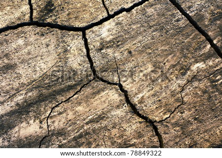 grunge texture of cracked ground surface - stock photo