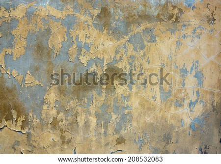 Grunge texture - old and damaged stucco - stock photo