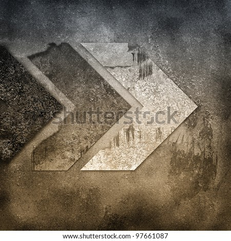grunge texture with arrows - stock photo