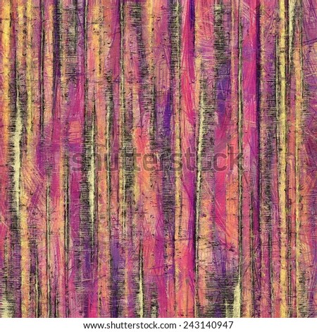 Grunge texture. With different color patterns: yellow; purple (violet); brown; pink; red - stock photo