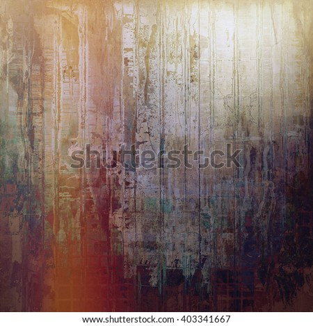 Grunge texture with retro design elements. With different color patterns: yellow (beige); brown; green; purple (violet); red (orange); gray - stock photo