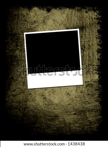 Grunge Textured background with instant photo photo placement - stock photo